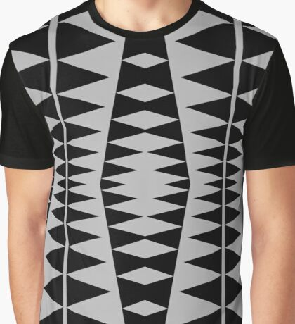 Black and Gray Modern Design by Julie Everhart Graphic T-Shirt