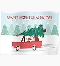 Driving Home For Christmas Poster
