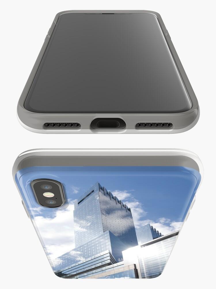 Alternative Ansicht von Himmelreflexion auf Wolkenkratzer in New York iPhone-Hülle & Cover