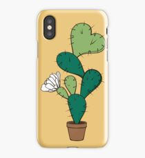 Blooming cactus with heart iPhone Case/Skin