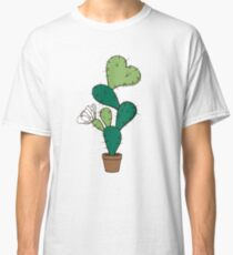 Blooming cactus with heart Classic T-Shirt