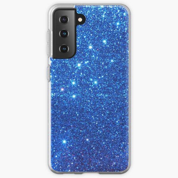 Glittery Blue  Samsung Galaxy Soft Case