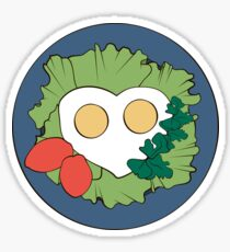 Fried eggs cooked with love Sticker