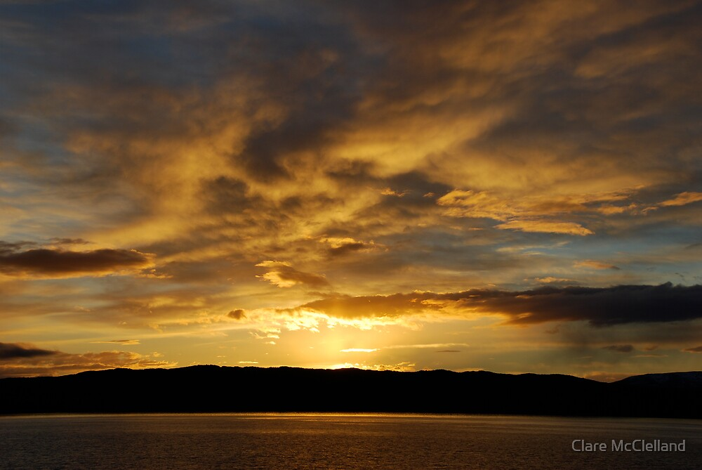 Gold Sunset by Clare McClelland