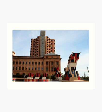 History of Adelaide Architecture Art Print