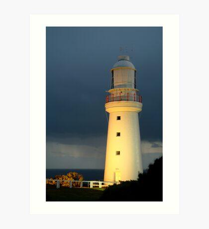 Twilight Rain, Cape Otway Lightstation Art Print