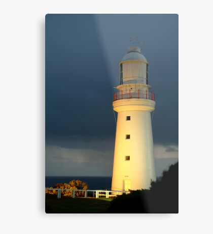 Twilight Rain, Cape Otway Lightstation Metal Print
