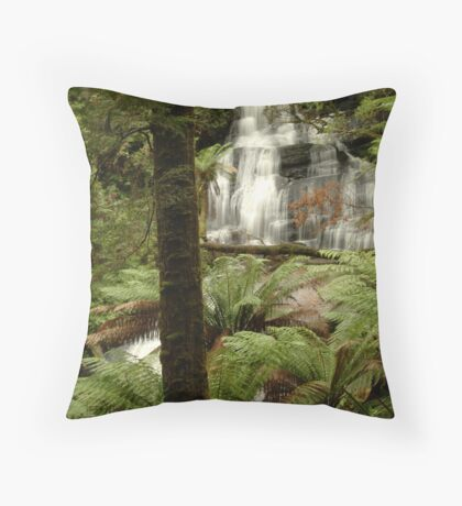 Triplet Falls Otway Ranges Throw Pillow