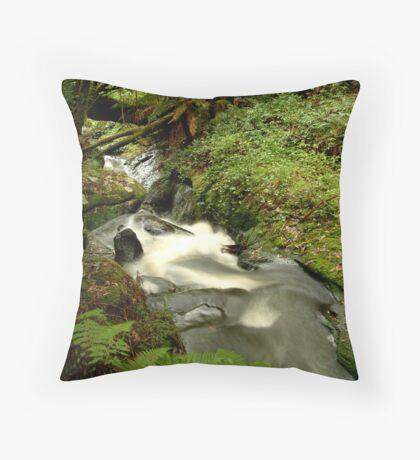 Rushing Waters,Triplet Falls,Otway's Throw Pillow