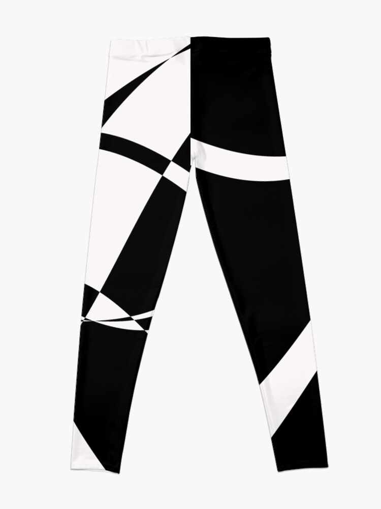 Alternate view of Black and White with Loop by Julie Everhart Leggings