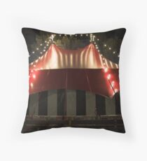 Comedy big top Throw Pillow