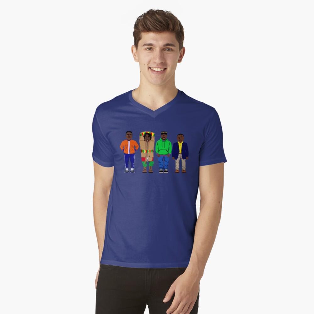 Cool Runnings to Calgary Mens V-Neck T-Shirt Front