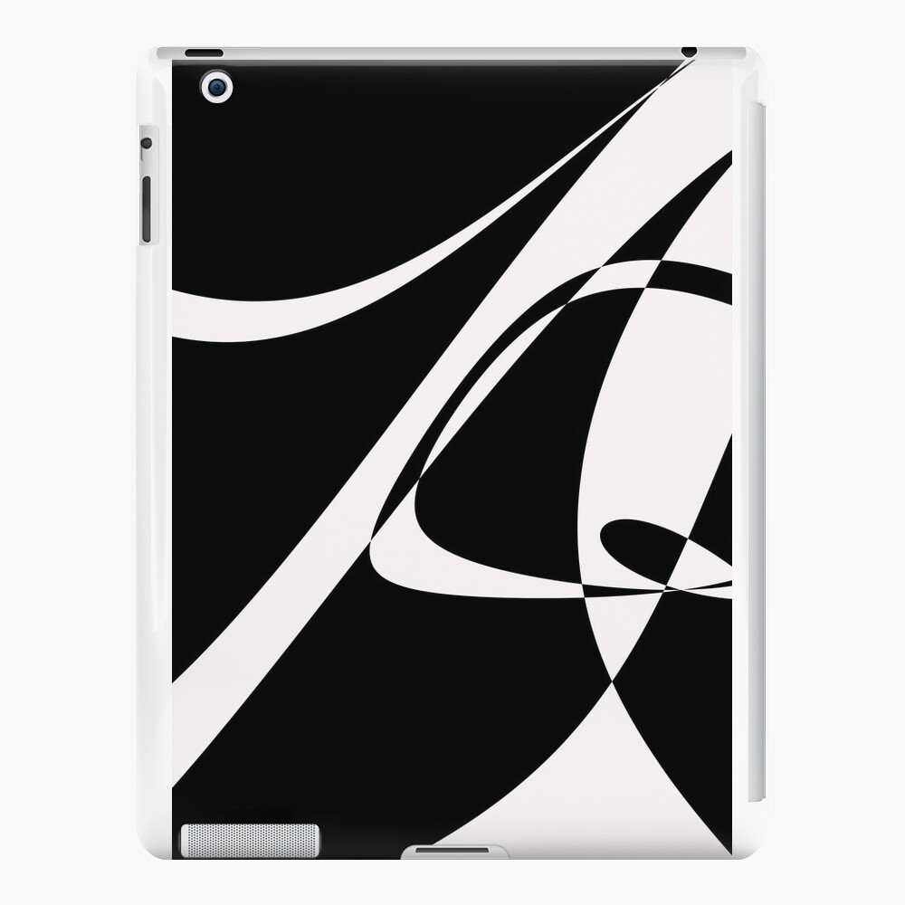 Black and White with Loop by Julie Everhart iPad Cases & Skins