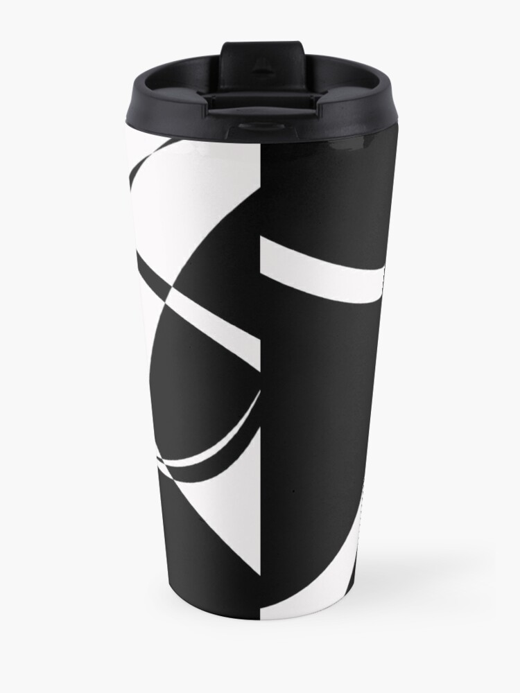 Alternate view of Black and White with Loop by Julie Everhart Travel Mug