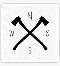 compass & axes Sticker