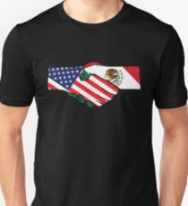 United States and Mexico Handshake T-Shirt