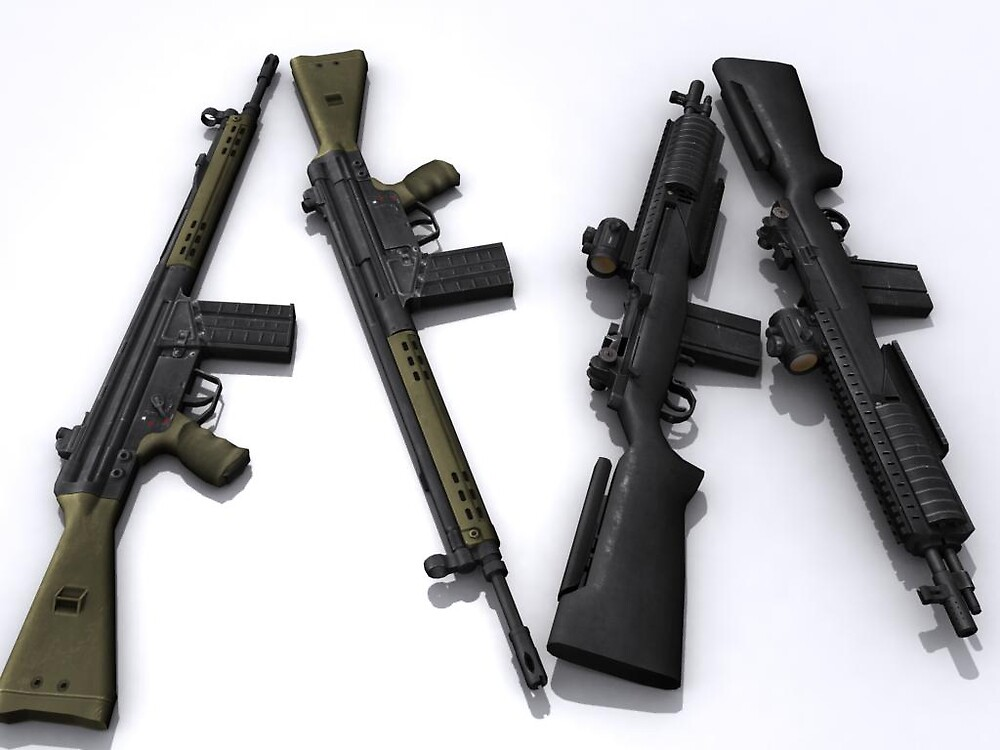 M-14 and G3 rifles by SenorFreebie