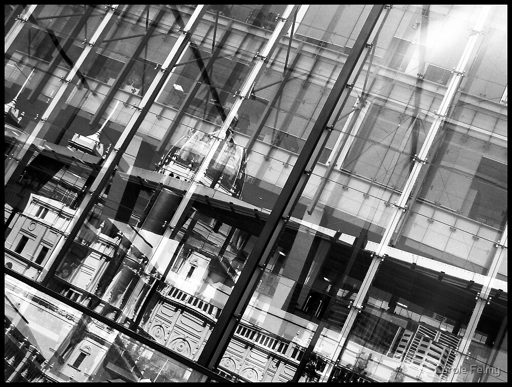 """Reflection in the Melbourne museum ("""" lines - 2 """") by Carole Felmy"""