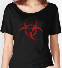 Biohazard Red  Vintage Women's Relaxed Fit T-Shirt