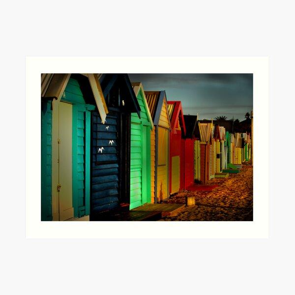 Brighton Beach Houses Art Print