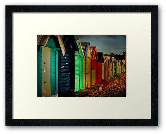 Brighton Beach Houses by Melinda Kerr