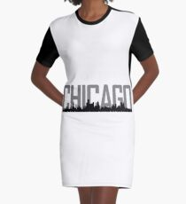 Chicago Skyline Graphic T-Shirt Dress
