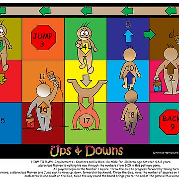 UPS & DOWNS- Children's Pathway Game by CowLickKidsCreations