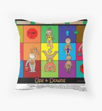 UPS & DOWNS- Children's Pathway Game Throw Pillow