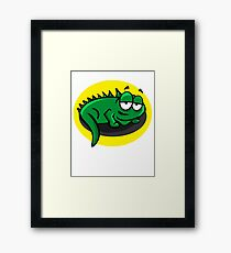 Silly Cartoon Lizard Framed Print