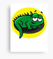 Silly Cartoon Lizard Canvas Print