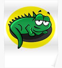 Silly Cartoon Lizard Poster