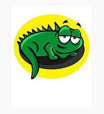 Silly Cartoon Lizard Photographic Print