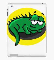 Silly Cartoon Lizard iPad Case/Skin