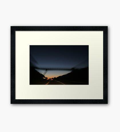 The Drive Framed Print