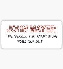 JOHN MAYER WORLD TOUR 2017  Sticker