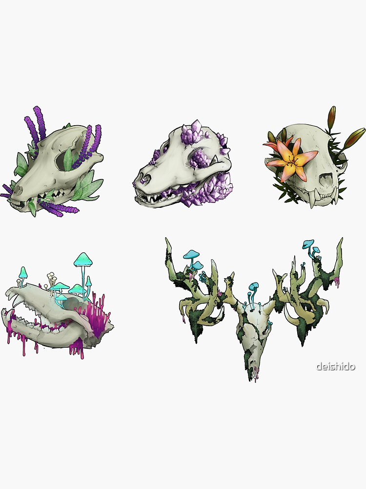 Mini Skull Prints by deishido