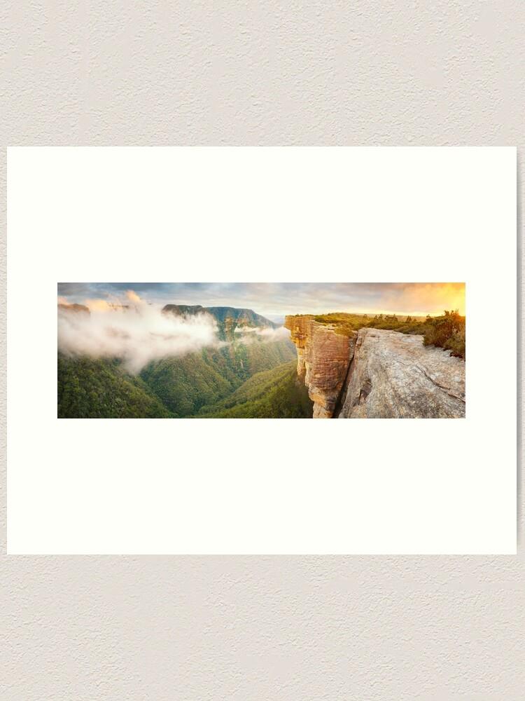 Alternate view of Kanangra Walls, Kanangra Boyd National Park, New South Wales, Australia Art Print