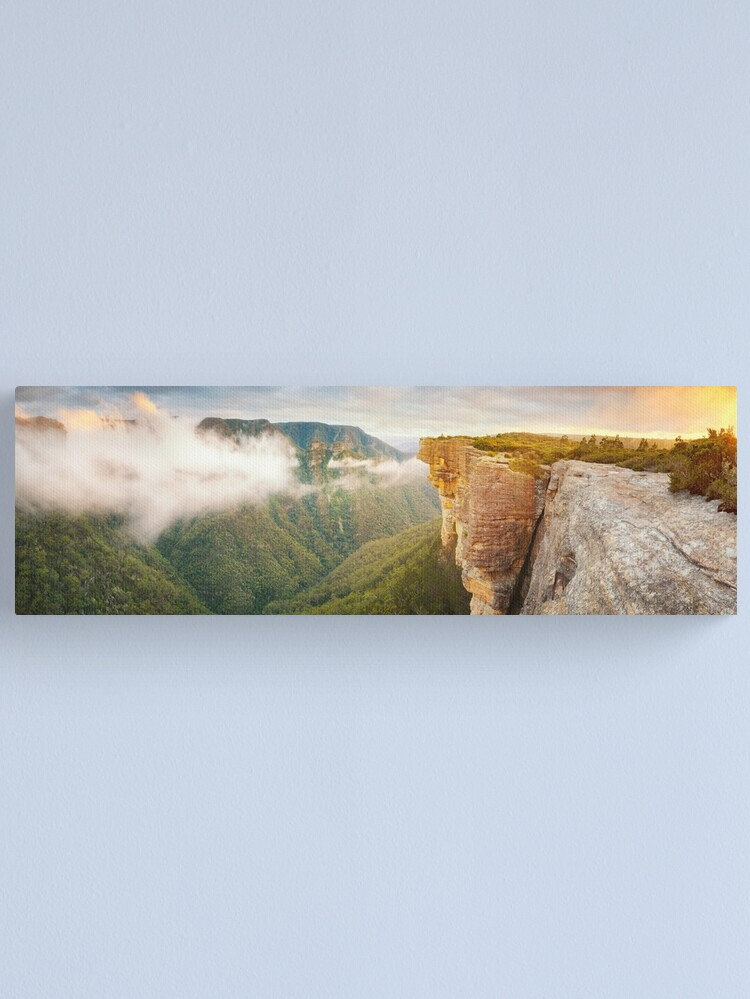 Alternate view of Kanangra Walls, Kanangra Boyd National Park, New South Wales, Australia Canvas Print