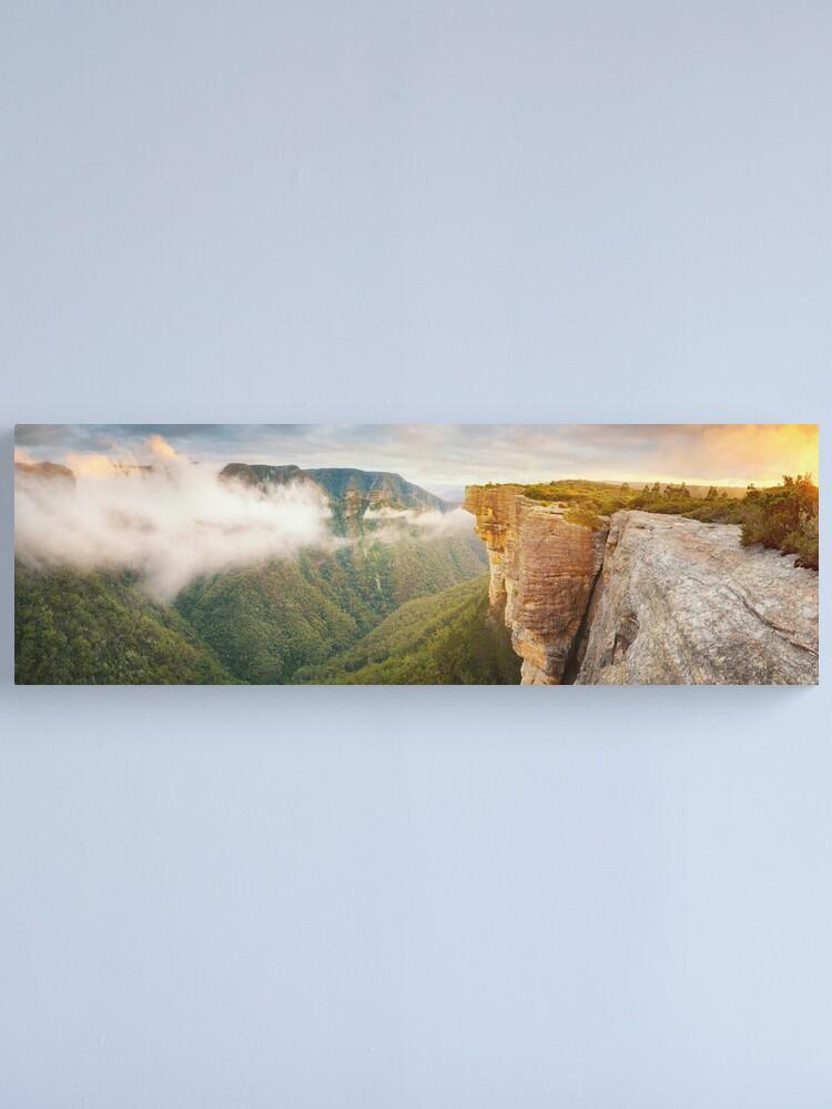 Alternate view of Kanangra Walls, Kanangra Boyd National Park, New South Wales, Australia Canvas Print