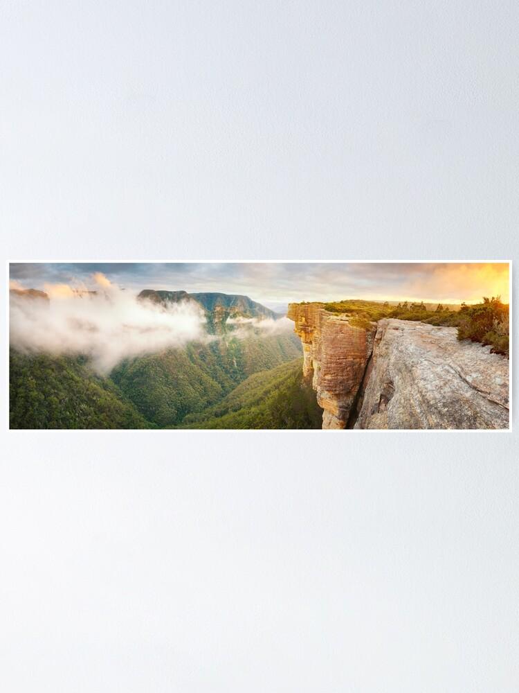 Alternate view of Kanangra Walls, Kanangra Boyd National Park, New South Wales, Australia Poster