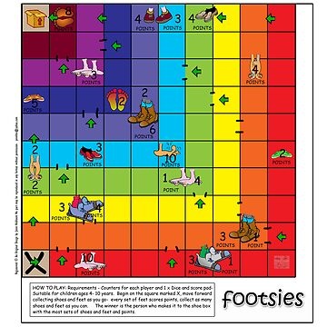FOOTSIES- C hildrens Pathway game by CowLickKidsCreations