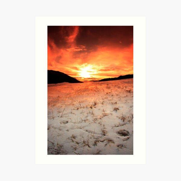 Snow Sunrise Art Print