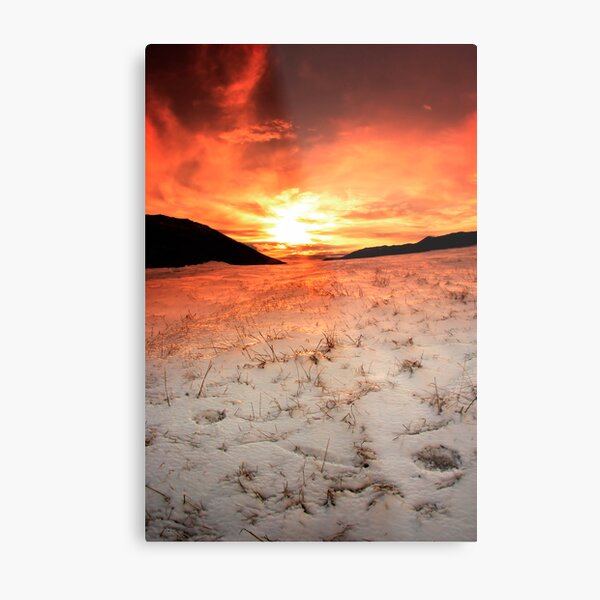 Snow Sunrise Metal Print