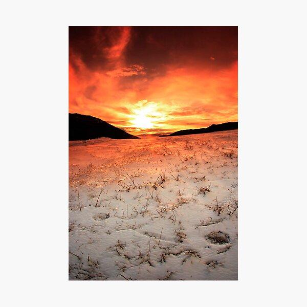 Snow Sunrise Photographic Print