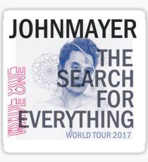 JOHN MAYER WORLD TOUR 2017 album cover Sticker