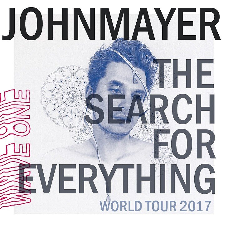 JOHN MAYER WORLD TOUR 2017 album cover by munchybunch