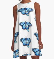 Autism Butterfly A-Line Dress