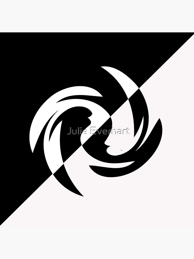 Half and Half with Spin ( black and white) by Julie Everhart by julev69