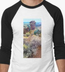 Drone view of Monkey Head in Smith Rock State Park - Oregon, USA T-Shirt