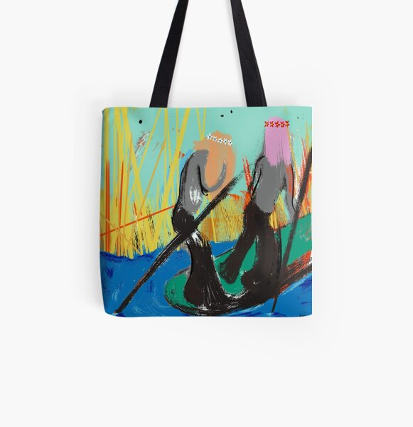 Hippie Boat All Over Print Tote Bag